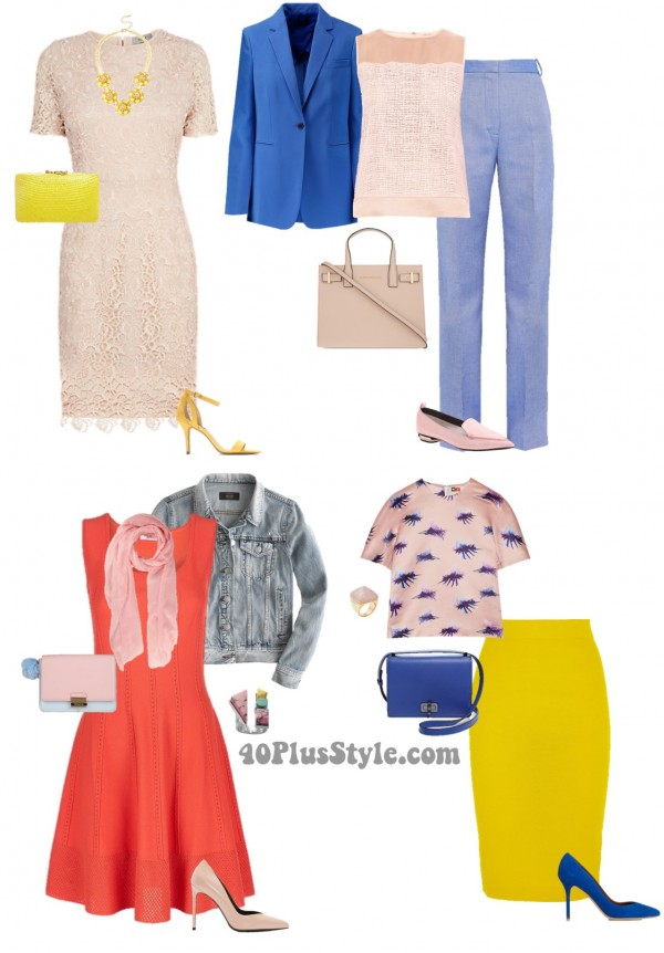 How to wear pink - a comprehensive guide with lots of ideas and color combinations!| 40plusstyle.com