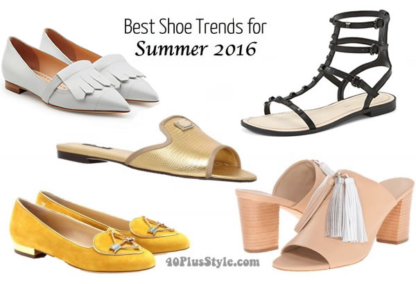 The best shoe trends for spring & summer 2016  | 40plusstyle.com