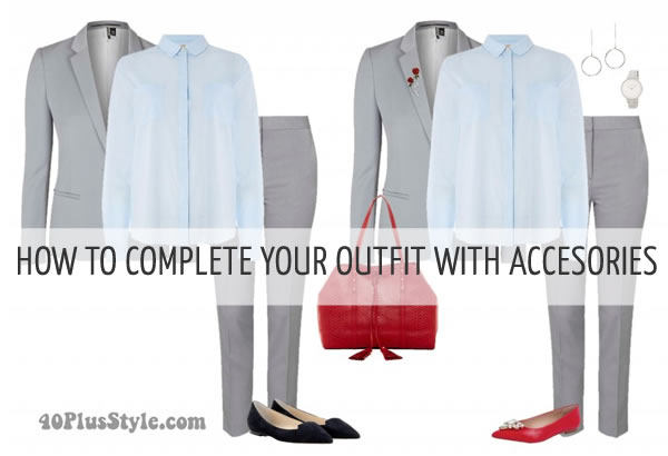 How to complete your outfits with accessories |40plusstyle.com
