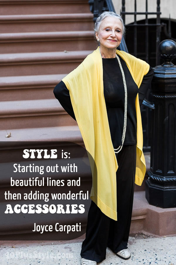 Joyce Carpati on style | 40plusstyle.com