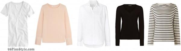 Basic Tops wardrobe capsule | 40plusstyle.com