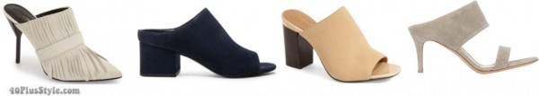 high heel mules spring trends | 40plusstyle.com