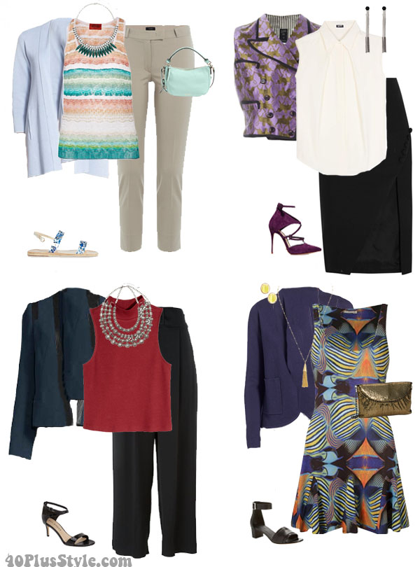 How to wear silk layering pieces   40plusstyle.com