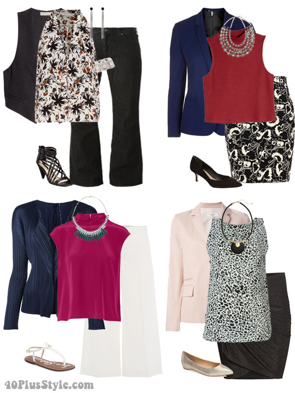 How to wear silk with cardigens and jackets   40plusstyle.com