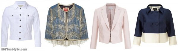 cropped jacket spring 2016 trends | 40plusstyle.com