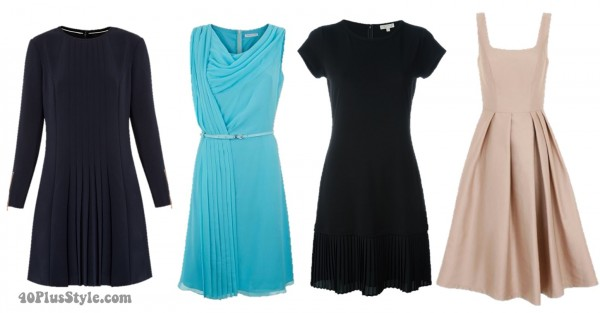 pleated dress spring trends | 40plusstyle.com