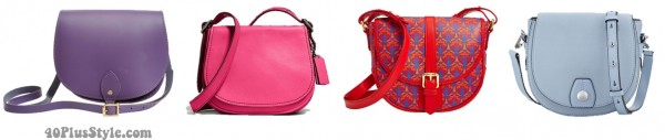 bright saddlebags spring trend | 40plusstyle.com