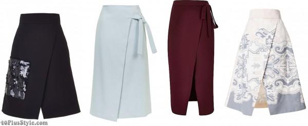 wrap skirt spring trends | 40plusstyle.com