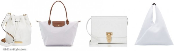 white bags spring trends | 40plusstyle.com