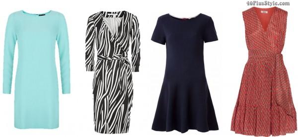 apple body shape dresses flatter | 40plusstyle.com