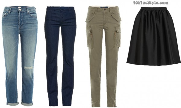 casual spring outfits jeans khakis | 40plusstyle.com