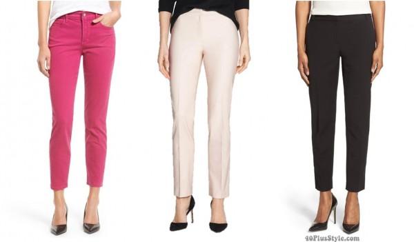 ankle pants cut length hem | 40plusstyle.com