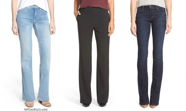 bootcut pants jeans length hem | 40plusstyle.com