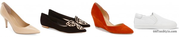 spring trends shoes flats wedges | 40plusstyle.com