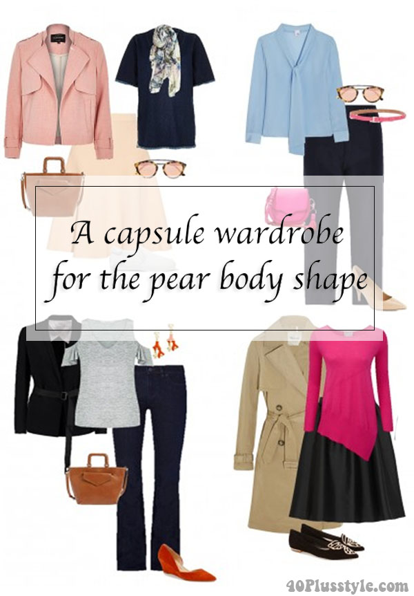 A capsule wardrobe for the pear body shape | 40plusstyle.com