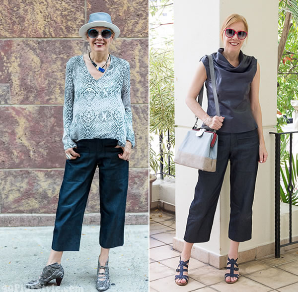 What is the right length for wide cropped pants? | 40plusstyle.com