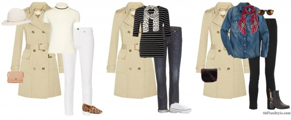 chic casual trench coat outfits spring boyfriend jeans   40plusstyle.com