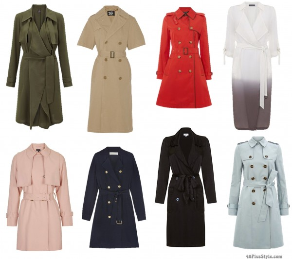 trench coat bright belted long short   40plusstyle.com