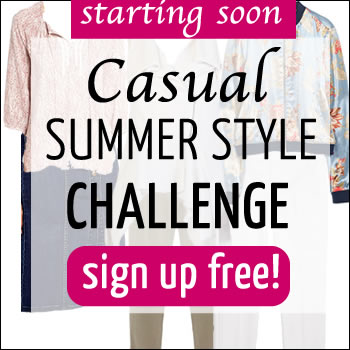 casual style challenge | 40plusstyle.com