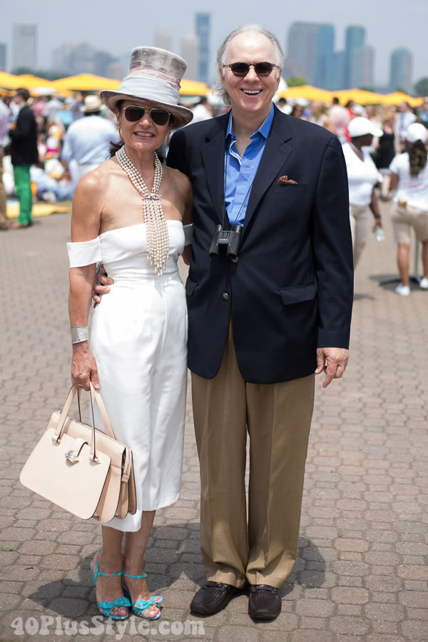 40+Style at the Veuve Cliquot Polo Classic in New York | 40plusstyle.com