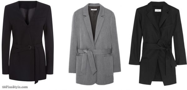 Belted blazers and how to wear them | 40plusstyle.com
