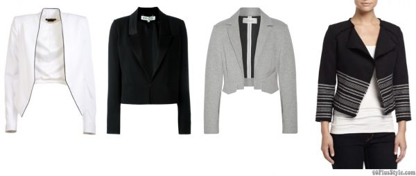 How to wear cropped length blazers | 40plusstyle.com