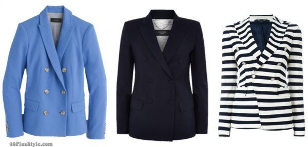 Double breasted blazers | 40plusstyle.com