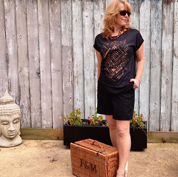 Aztec print top | 40plusstyle.com