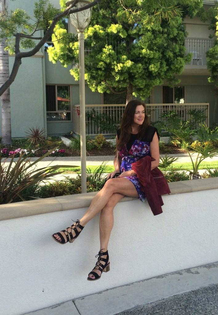 Purple lace dress   40plusstyle.com
