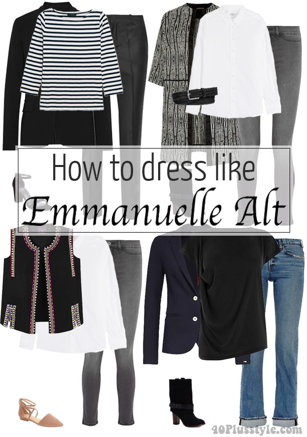 How to dress like Emmanuelle Alt | 40plusstyle.com