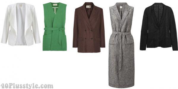 linen blazer summer style white   40plusstyle.com
