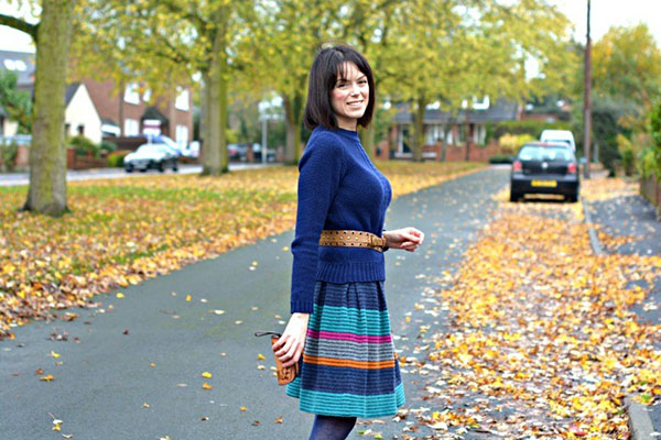 Marc Jacobs skirt and ankle boots   40plusstyle.com