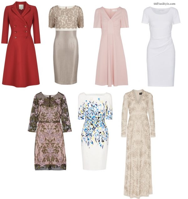 formal casual dresses gold white sheath bennet Kate Middleton Duchess Cambridge | 40plusstyle.com