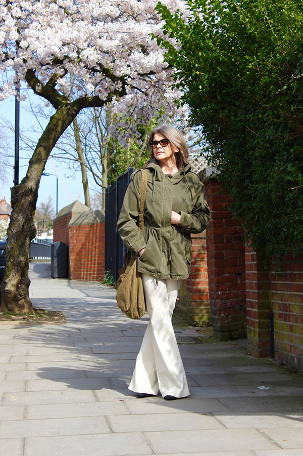 Parka outfit for spring | 40plusstyle.com