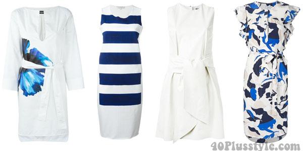 Chic white dresses | 40plusstyle.com