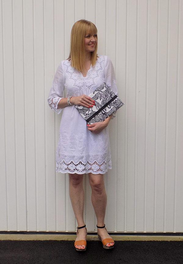 White lace dress | 40plusstyle.com