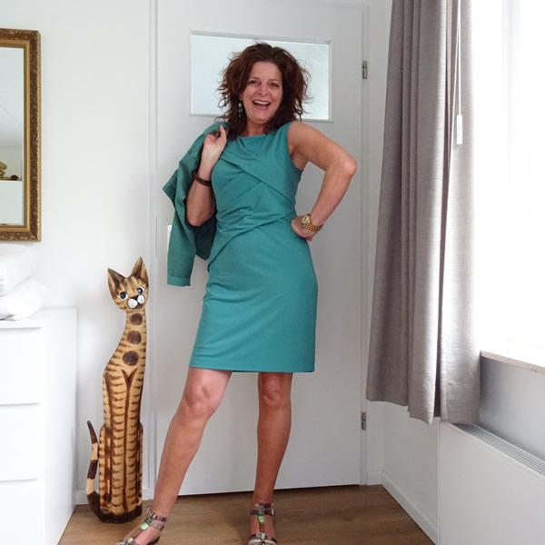 A green dress | 40plusstyle.com