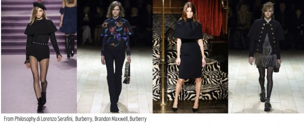 Fall fashion trends for 2016: Capelet coats by Burberry, Philosophy di Lorenzo Serafini, and Brandon Maxwell 40plusstyle.com