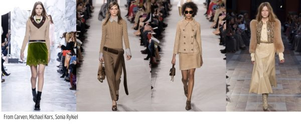 Michael Kors' Fall 2016 collection featuring tan and beige pieces | 40plusstyle.com