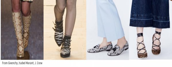 Fall 2016 shoe trends: animal prints by guvency marant and jcrew | 40plusstyle.com