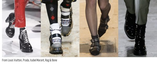 Fall shoe 2016 trends: Chunky boot styles and laces buckled shoes | 40plusstyle.com