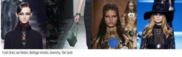 The best fall 2016 accessory trends for women over 40: Earthy quartz and bohemian inspired by givenchy   40plusstyle.com