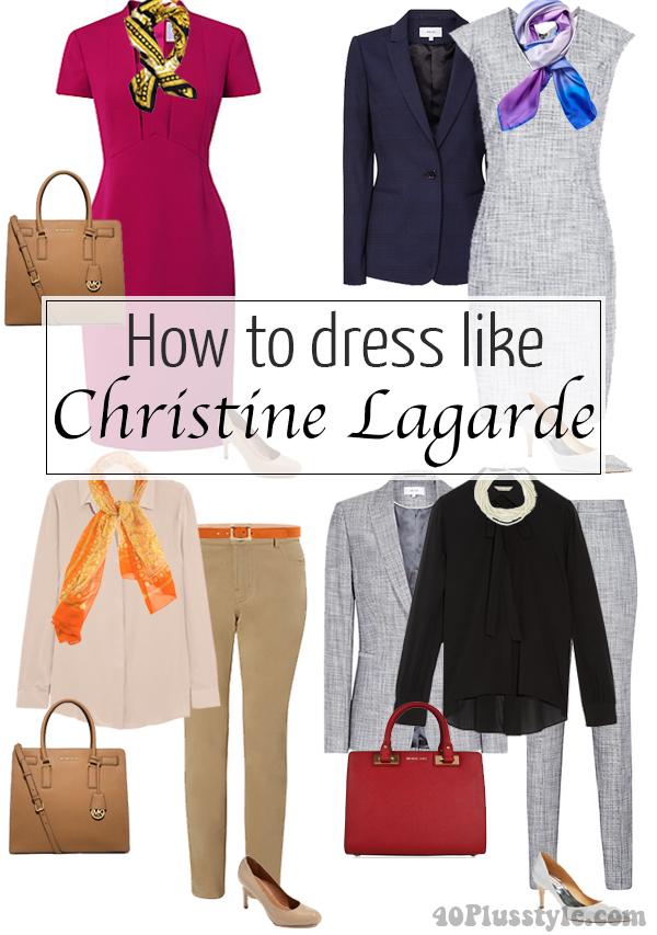 How to dress like Christine Lagarde | 40plusstyle.com