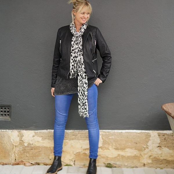 #40plusstyle inspiration: Styling leather jackets with scarves and boots | 40plusstyle.com