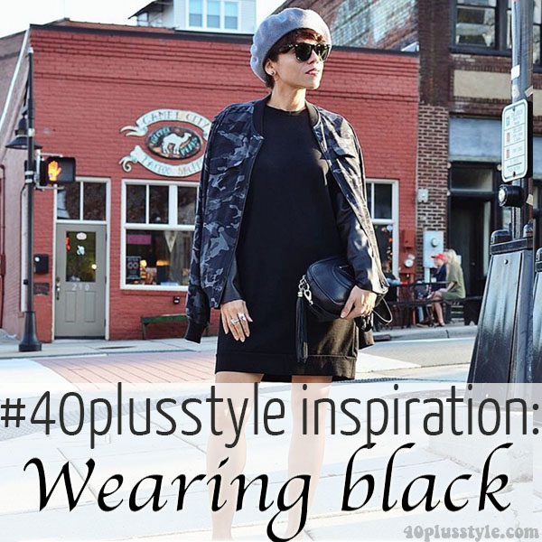#40plusstyle inspiration: Wearing black | 40plusstyle.com