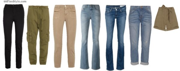 How to dress like Jennifer Aniston: Stylish khakis, pants, jeans and skinny pants | 40plusstyle.com