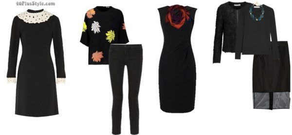 How to wear black over 40 and style tips: add pops of color to your black outfit | 40plusstyle.com