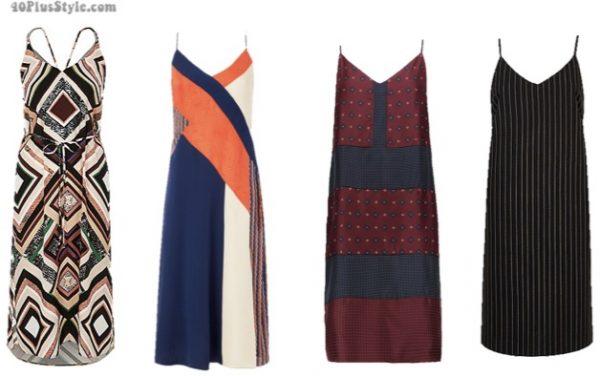Slip dress-printed