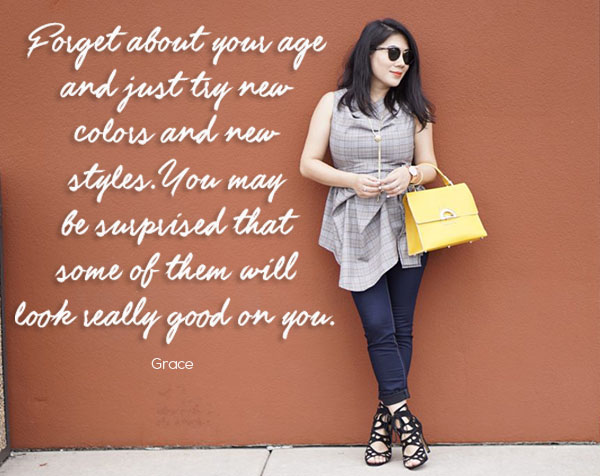 Color and Grace Style Interview quote | 40plusstyle.com