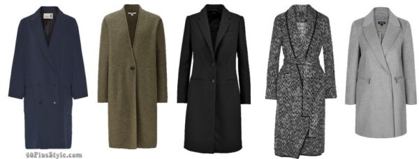 The best coats for fall: menswear inspiread and adrogynous styled coats | 40plusstyle.com